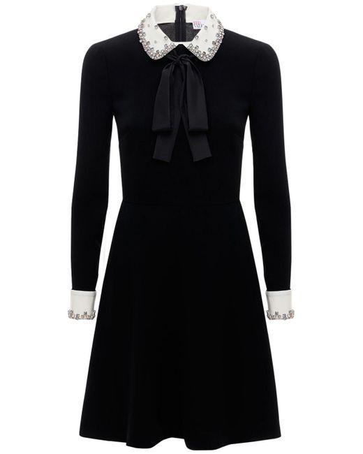 RED Valentino Exclusive クレープミニドレス Black