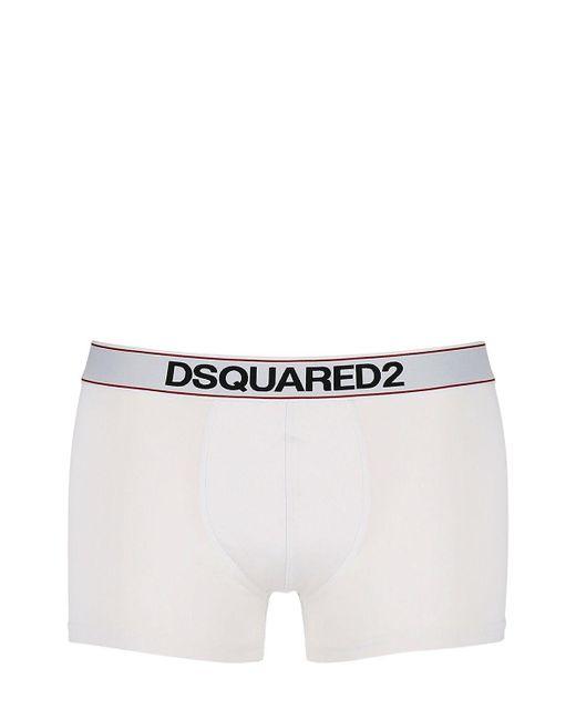 Футболка Из Хлопкового Джерси DSquared² для него, цвет: White