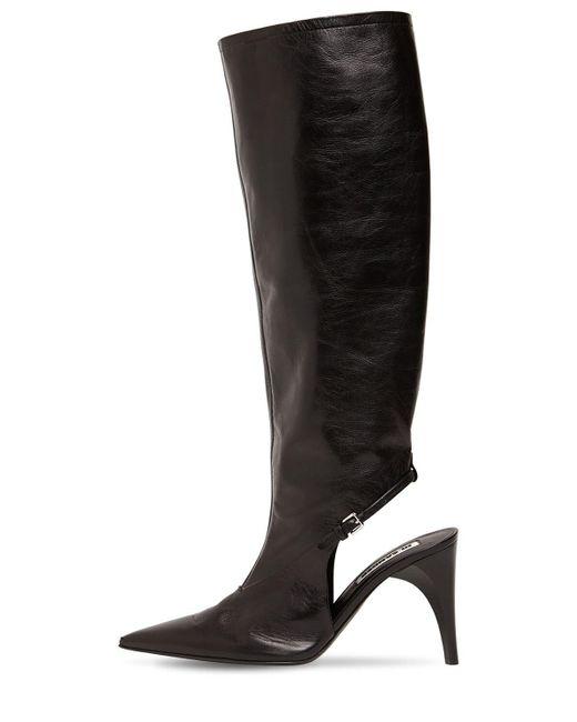 Jil Sander レザーブーツ 95mm Black
