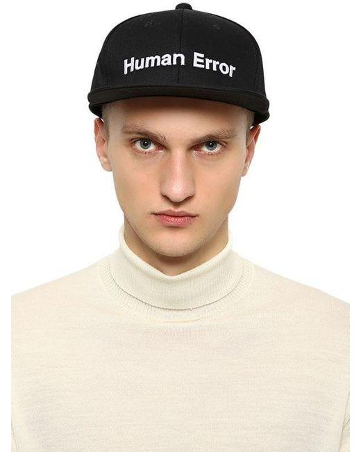 メンズ Undercover 刺繍 コットンキャンバス野球帽 Black