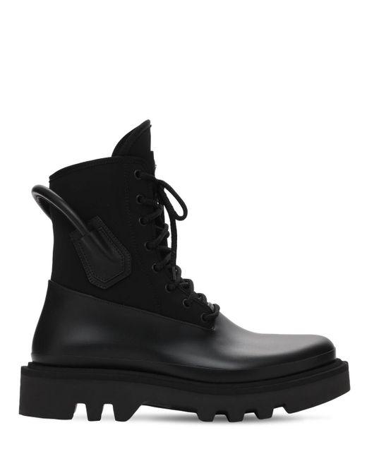 メンズ Givenchy テックコンバットブーツ Black