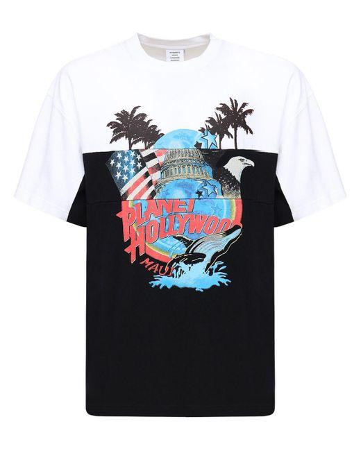 メンズ Vetements Planet Holly Cut Up コットンtシャツ Multicolor
