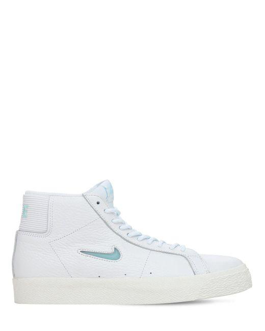 Кроссовки Sb Zoom Blazer Mid Nike для него, цвет: White
