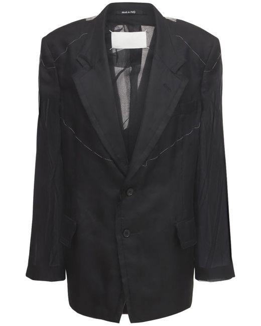 Maison Margiela シルクツイルジャケット Black