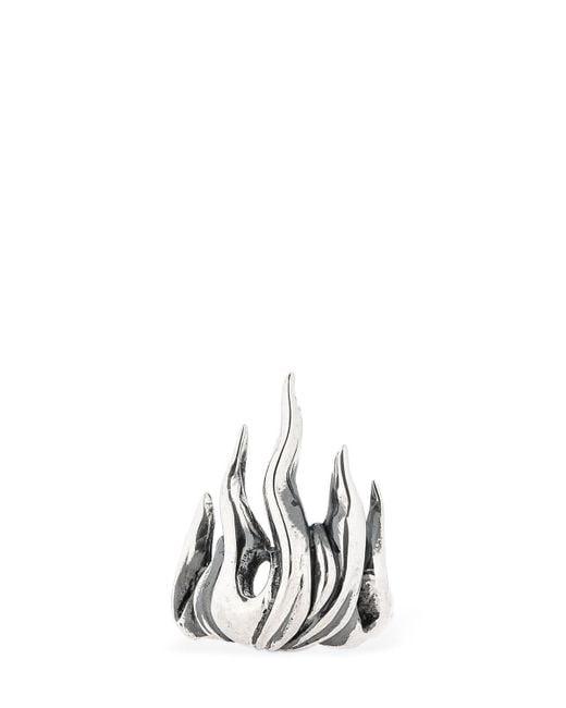 """Ring """"flame"""" Cantini Mc Firenze de hombre de color Metallic"""