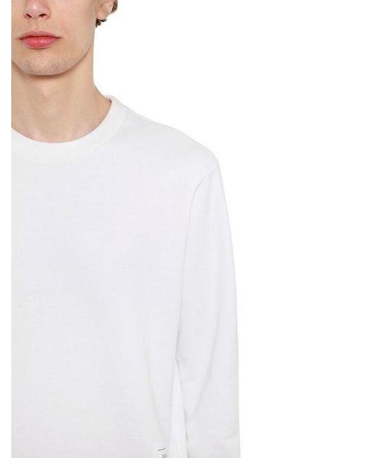 メンズ Thom Browne コットンジャージースウェットシャツ White