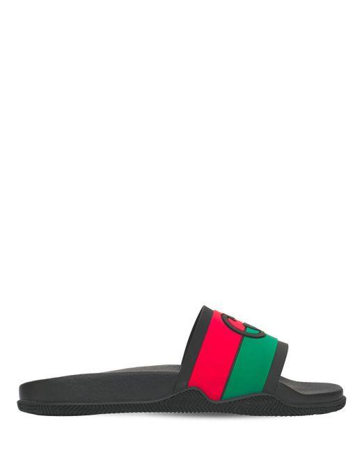 Резиновые Сандалии Gucci для него, цвет: Black