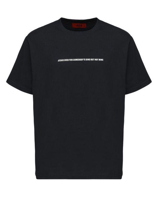 メンズ 424 But Not Mine コットンtシャツ Black