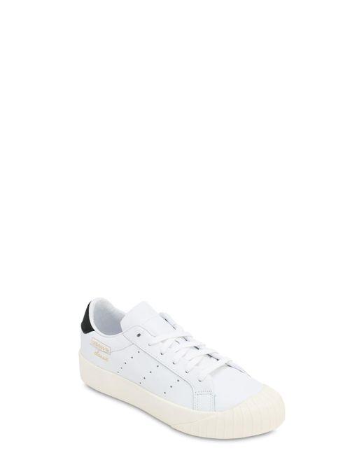 Adidas Originals Everyn レザースニーカー White