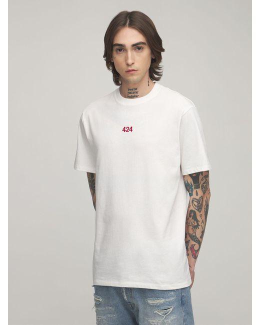 メンズ 424 コットンtシャツ White