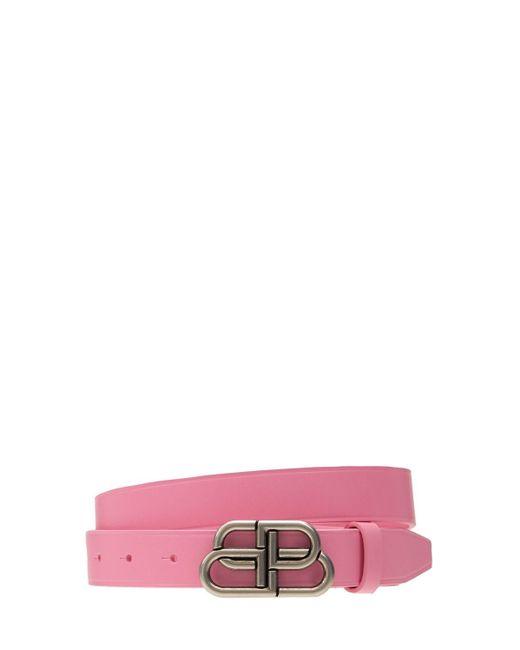 Кожаный Ремень 3cm Balenciaga, цвет: Pink