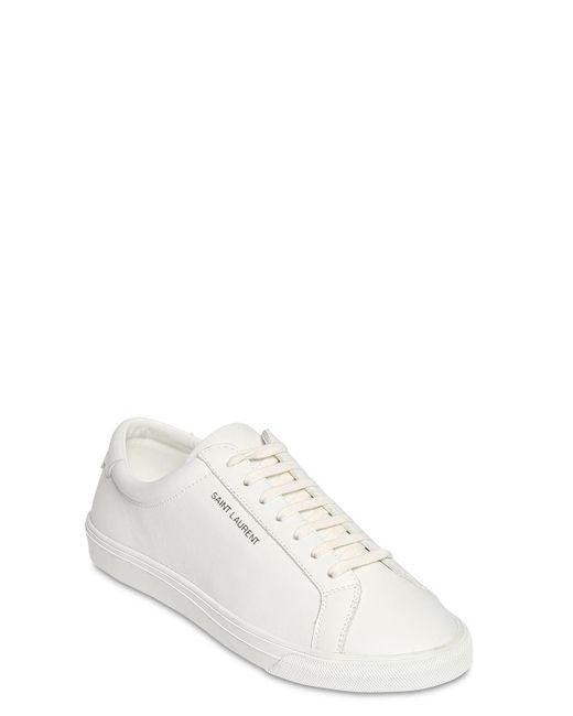 Кожаные Кроссовки Andy 10mm Saint Laurent, цвет: White