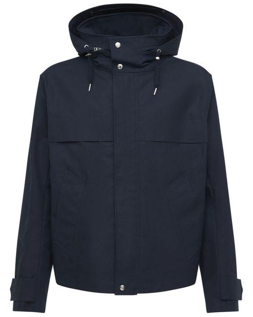 メンズ AMI フーデッドコットンキャンバスジップジャケット Blue