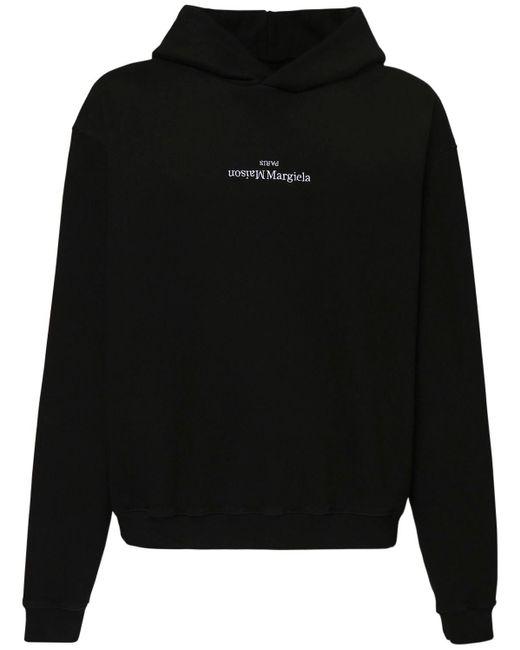 メンズ Maison Margiela コットンフーディー Black