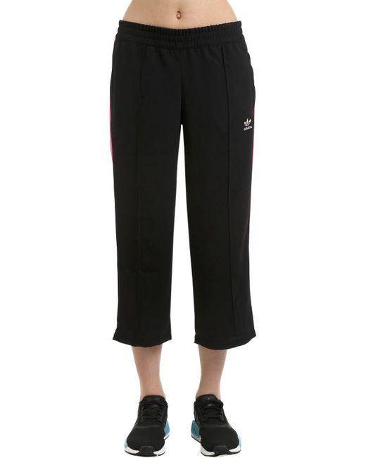 Adidas Originals ワイドレッグ トラックパンツ Black