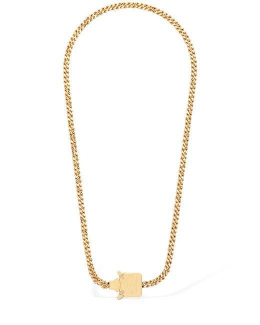 1017 ALYX 9SM Metallic Mini Cubix Chain Necklace