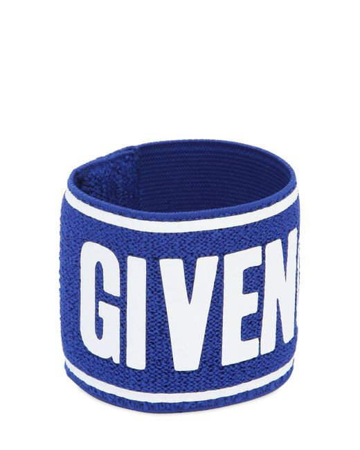 Givenchy - Blue Logo Terrycloth Sport Wristband - Lyst
