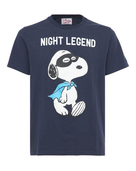 メンズ Mc2 Saint Barth Snoppy Night コットンジャージーtシャツ Blue