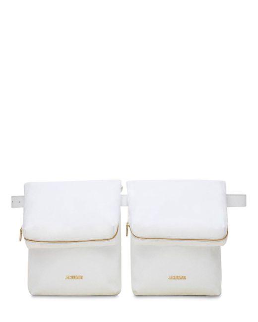 Сумка На Пояс Из Кожи Jacquemus, цвет: White