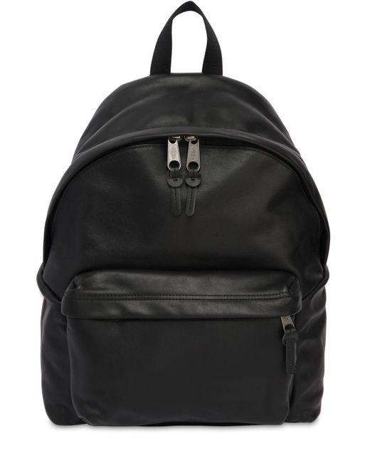 Eastpak Black 24l Padded Pak'r Leather Backpack