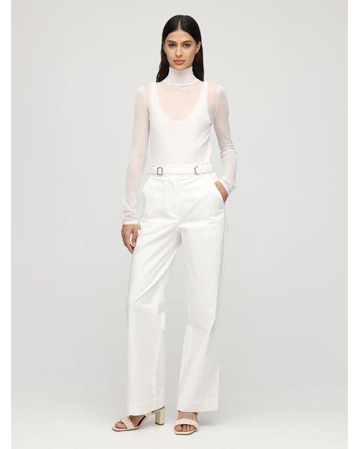 PROENZA SCHOULER WHITE LABEL コットンツイルブレンドパンツ White