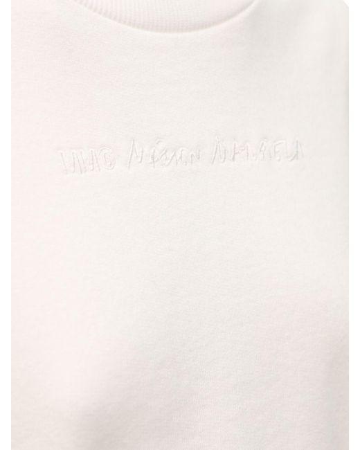 MM6 by Maison Martin Margiela コットンスウェットシャツ White