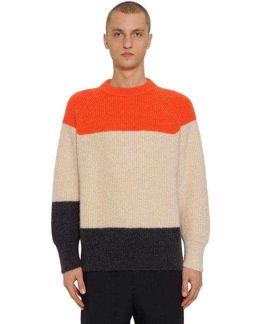 Свитер Из Шерстяного Трикотажа И Мохера Jil Sander для него, цвет: Orange