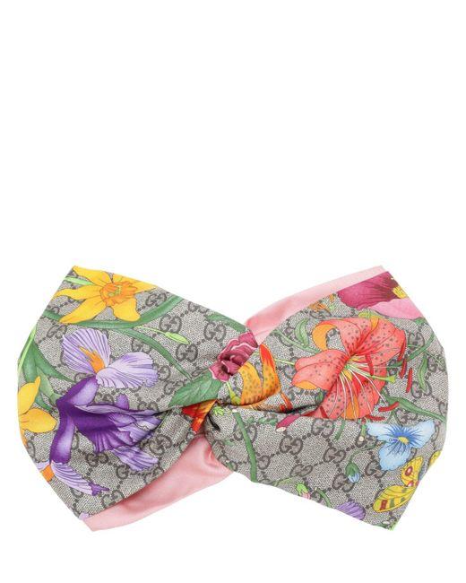 Шёлковый Ободок С Принтом Gucci, цвет: Pink