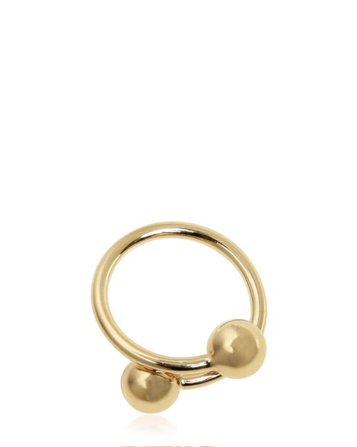 J.W. Anderson - Metallic Small Double Ball Ring - Lyst