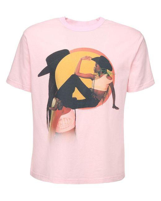 メンズ Telfar コットンジャージーtシャツ Pink