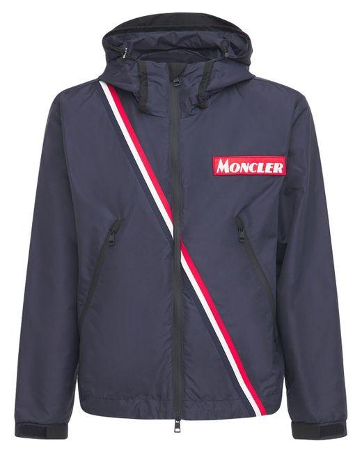 メンズ Moncler Trakehner ナイロンジャケット Blue