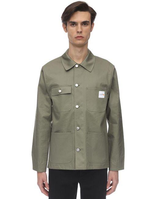 メンズ A.P.C. Carhartt コットンワークジャケット Green