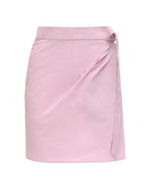 Ciao Lucia Ponza コットンポプリンミニスカート Pink