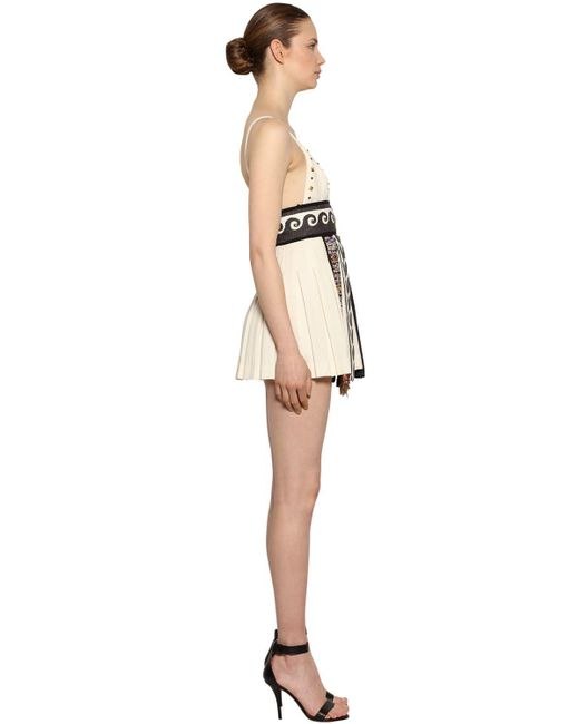 Fausto Puglisi ウールクレープ ドレス White