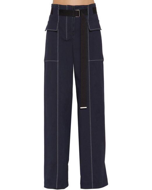 Sportmax コットンブレンド ワイドレッグパンツ Blue
