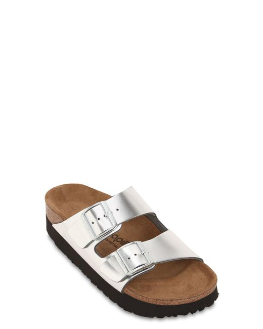 f9b943ec0af ... Birkenstock - Metallic Papillio Arizona Platform Sandals - Lyst ...