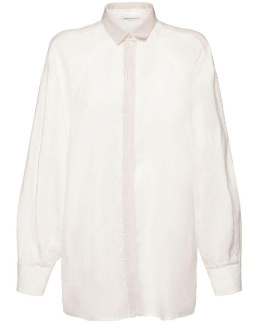 Agnona コットンブレンドシャツ White