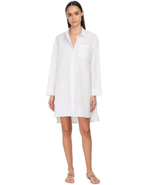 Max Mara コットンポプリンシャツドレス White