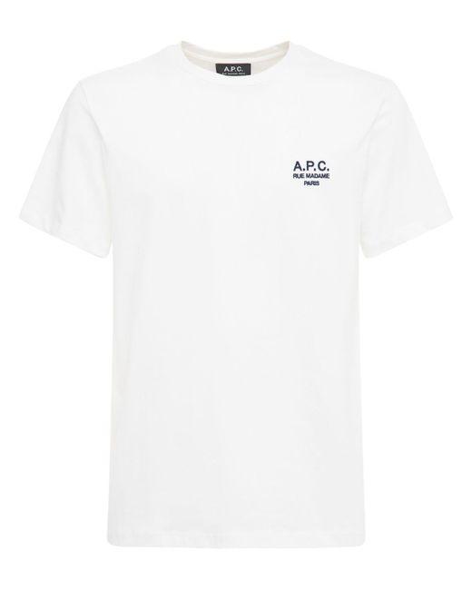 メンズ A.P.C. Raymond コットンtシャツ White