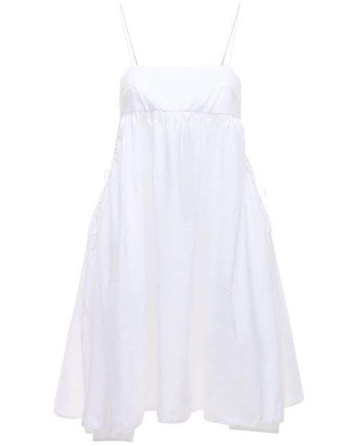CECILIE BAHNSEN Lisbeth オーガニックコットンミニドレス White