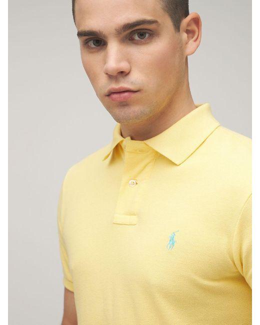 メンズ Polo Ralph Lauren コットンピケポロシャツ Yellow