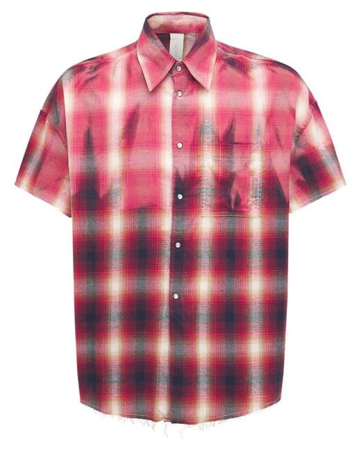 メンズ Giorgio Brato オーバーサイズコットンブレンドフランネルシャツ Red