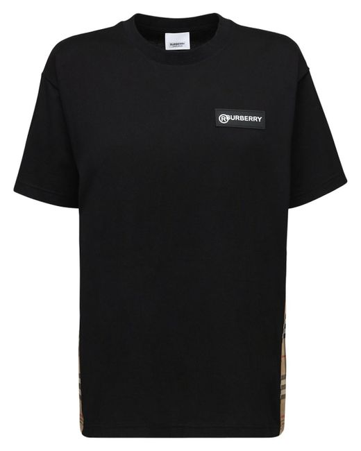 Burberry ジャージーtシャツ Black