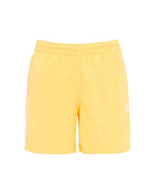 メンズ Adidas Originals Primegreen 3-stripe 水着 Yellow