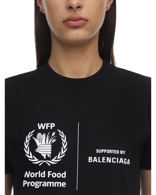 Balenciaga Wfp Fitted Vintage ジャージーtシャツ Black