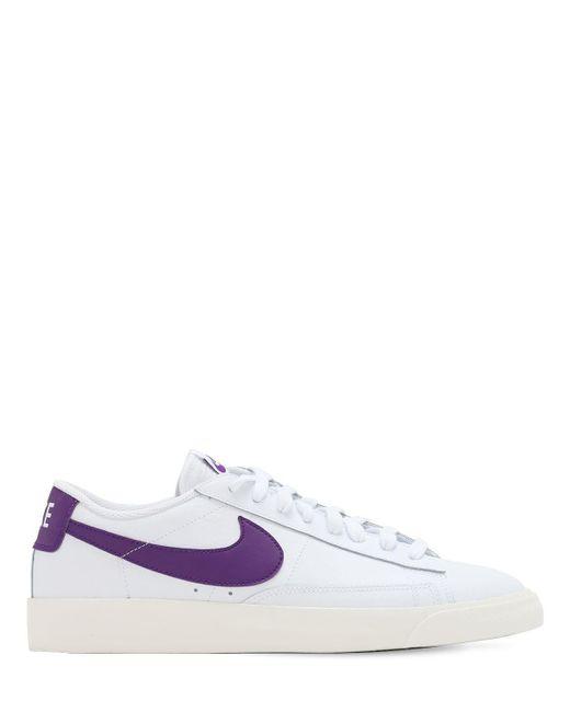 """Кожаные Кроссовки """"blazer Low"""" Nike для него, цвет: White"""