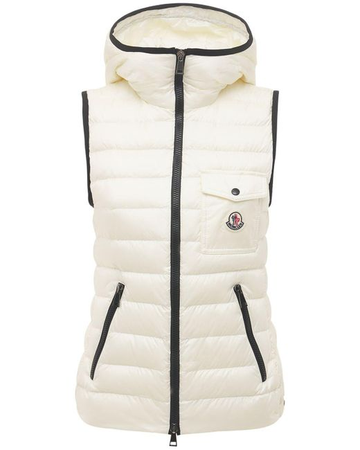 Moncler Glyco ナイロンダウンベスト White