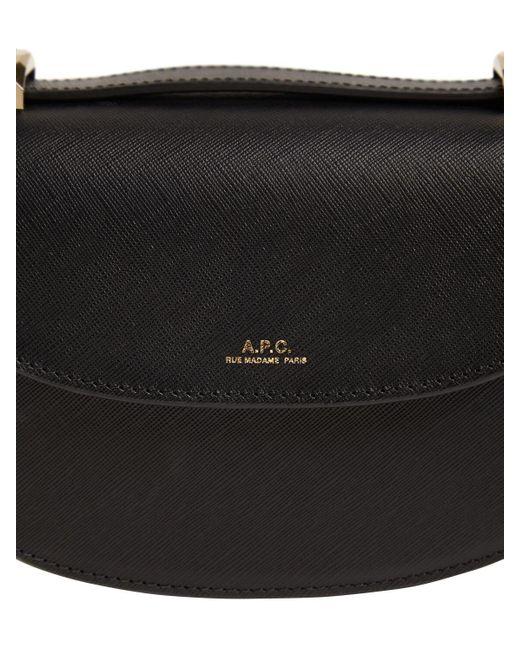 A.P.C. Mini Genève サフィアーノレザーバッグ Black