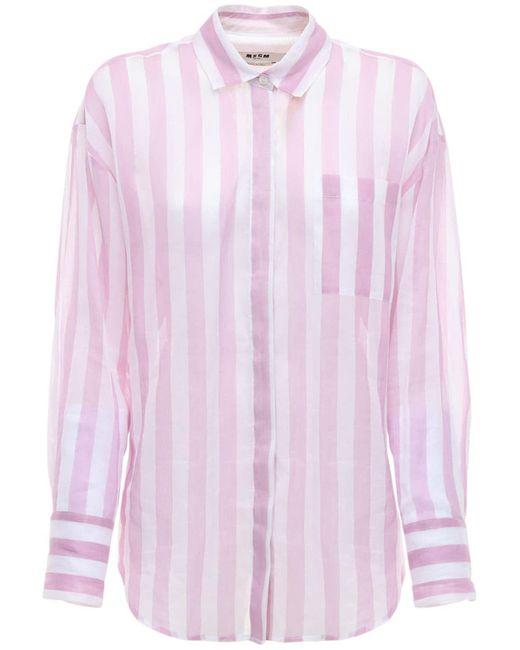 MSGM コットンシャツ Pink
