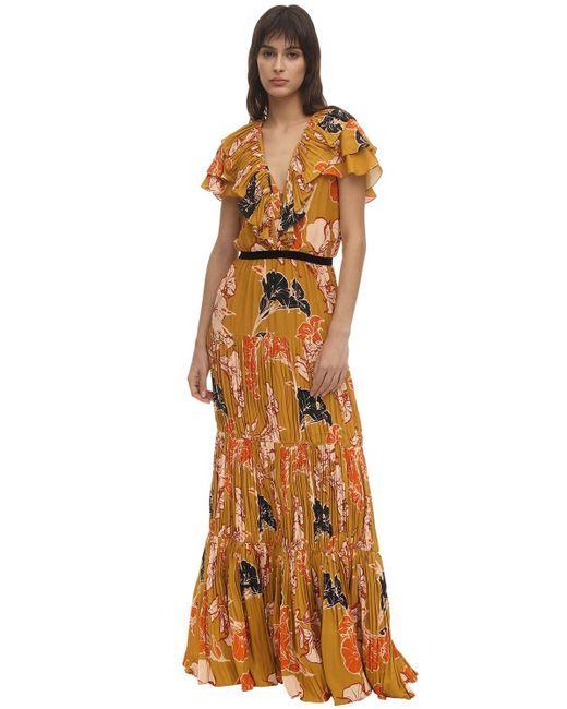 Johanna Ortiz クレープデシンロングドレス Multicolor